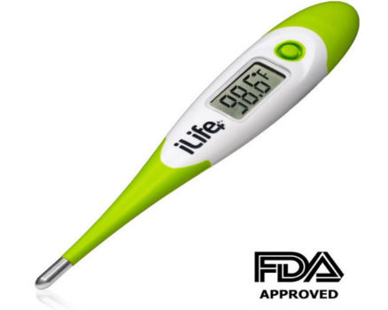 iLife+ digital temperature thermometer for oral rectal & underarm