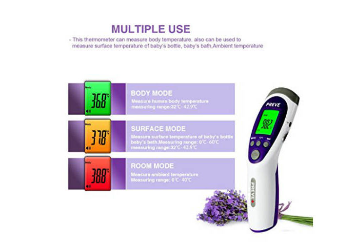 PREVE non contact infrared medical clinical forehead thermometer