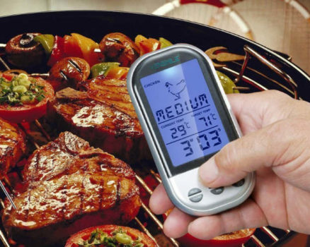 Wireless Meat Thermometer 2 Stainless Steel Probes