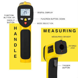 buy the Avantek dual laser cooking & industrial thermometer