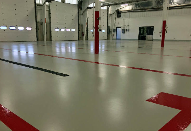 Thermal thermometers and epoxy flooring systems