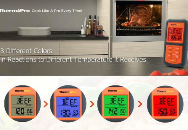 ThermoPro TP07 wireless digital cooking thermometer review
