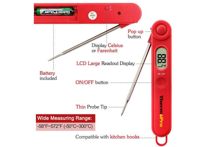 ThermoPro TP03A digital cooking thermometer review