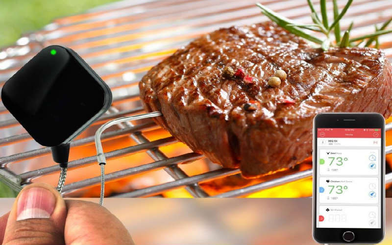 NutriChef smart bluetooth BBQ grill thermometer review