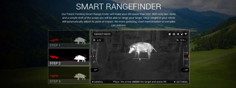 use a Build-in Smart Rangefinder
